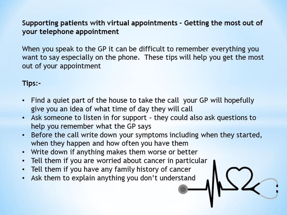 Supporting patients with virtual consultations